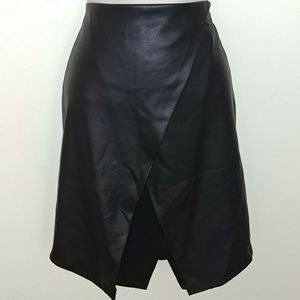Faux Leather Layered Skirt   *Size Medium*